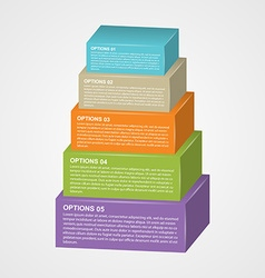 Infographic design with rectangles vector image vector image
