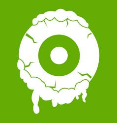 scary eyeball icon green vector image vector image