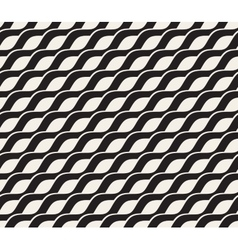 Seamless Black and White Interlacing Wavy vector image vector image