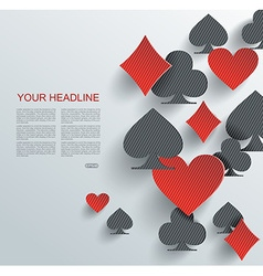 Abstract background with playing cards signs vector image