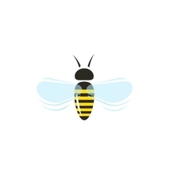 Bee flying icon isolated on white vector image vector image