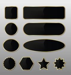 Elegant Black-Gold Web Buttons vector image