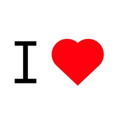 i love popular symbol heart vector image vector image