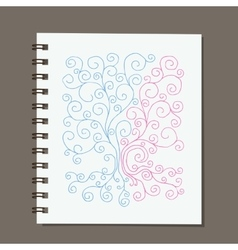 Notebook design abstract family tree with roots vector image vector image
