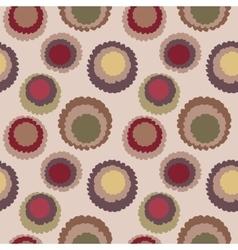 Seamless geometric polka do spotty pattern Motley vector image vector image