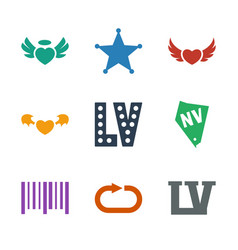 9 grunge icons vector image