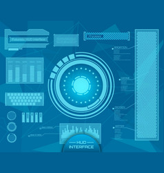 Abstract future concept futuristic blue vector