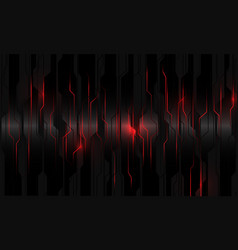 Abstract red light power circuit on black metallic vector