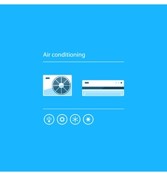 Air conditioning linear logo and icon vector