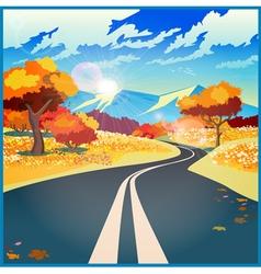 Autumn road vector