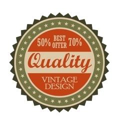Best offer vintage tag vector image