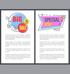 big sale special offer promo sticker stars advert vector image