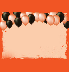 Blank halloween banner background with air vector