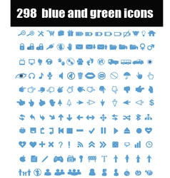 Blue and green icons vector image