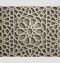 Brown background islamic ornament vector