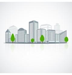 Building landscape emblem vector