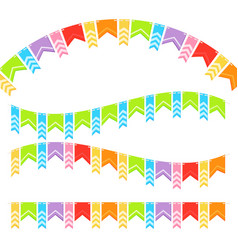 Bunting colorful flags vector