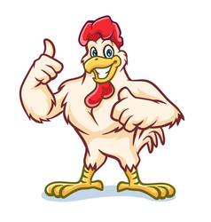 Chicken thumbs up mascot design vector