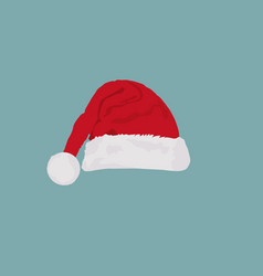 christmas hat in flat design vector image