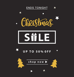 christmas sale banner template design vector image