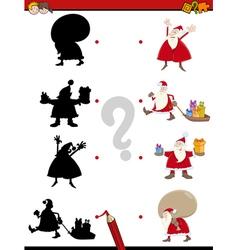 Christmas shadow game vector