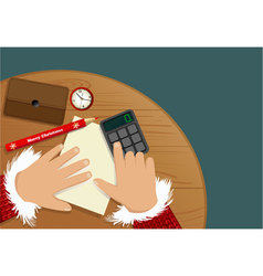 Christmas shopping list vector image
