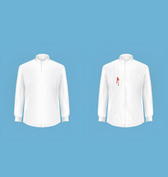 clean and dirty shirt before after washing vector image