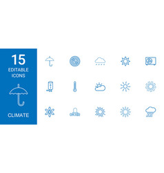 Climate icons vector