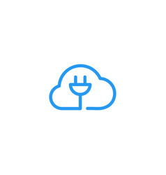 Cloud charger charging cord cable cordless logo vector