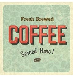 coffee retro poster vector image