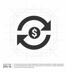 Currency convert icon vector