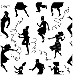 Dancing seamless pattern vector image