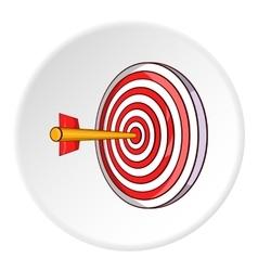 Darts icon cartoon style vector