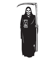 Death with hourglass and scythe vector