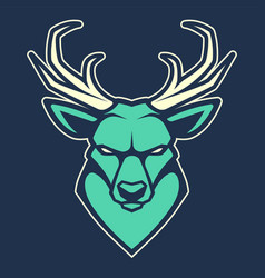 deer mascot icon vector image