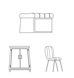 design of furniture and apartment logo vector image