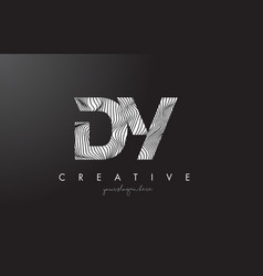Dy d y letter logo with zebra lines texture vector