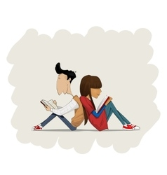 Educated couple in love vector