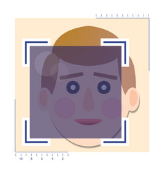 face detection biometrical identification vector image