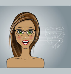 face recognition vector image