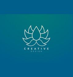 Flower design that bloom in gold minimalist vector