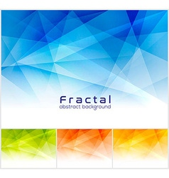 Fractal abstract background vector