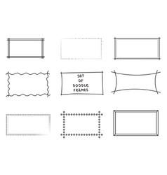 frames doodle set of 9 simple doodles set vector image