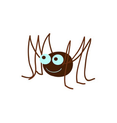 Funny spider cartoon vector