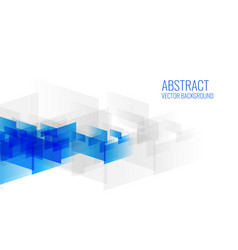 geometric blue abstract shapes on white background vector image