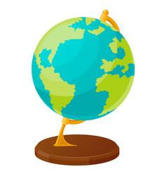 globe in flat style spherical model earth vector image