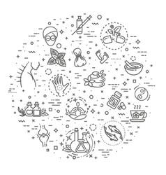 Graphic set alternative medicine vector