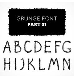 Grunge hand written alphabet vector