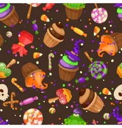 Halloween candy seamless pattern texture with vector