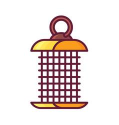Hanging bird feeder icon vector